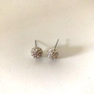 5/$10 Silver Diamond Stud Earrings